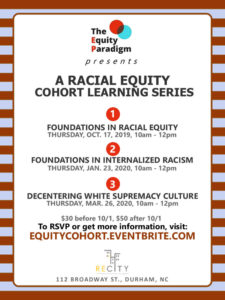 Racial Equity Cohort Learning Series #2 - Foundations in Internalized Racism @ ReCity Network