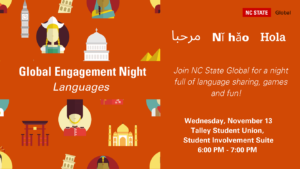 Global Engagement Night: Languages @ Talley Student Union, Student Involvement Suite